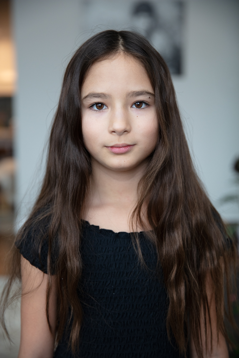 Headshot of child with relaxed expression